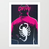 Drive (Night Version) Art Print