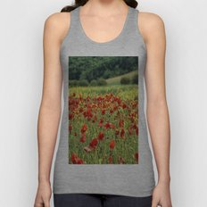 Poppies, Poppies, Poppies Unisex Tank Top
