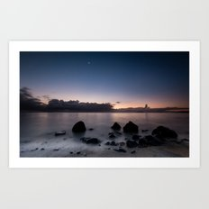 Sunrise, Moonset Art Print