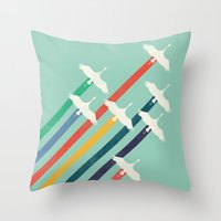 The Cranes Throw Pillow