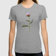 T-shirt featuring Peonies On Black by Lisa Argyropoulos