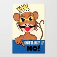 Monkey king says No! Canvas Print