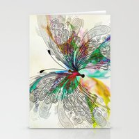 butterfly Stationery Cards featuring Butterfly by Klara Acel