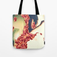 Lady Pomegranate Tote Bag
