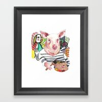 Pablo Pigcasso Framed Art Print