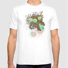 Enchanted Flowers White Mens Fitted Tee SMALL