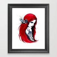 -City Ariel- Framed Art Print