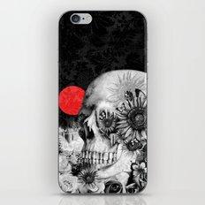 Fire in the dark, nature skull iPhone & iPod Skin
