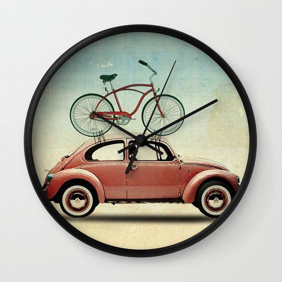 VW bike rack Wall Clock