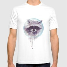 Hello Raccoon! Mens Fitted Tee White SMALL