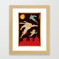 Superheroes Framed Art Print