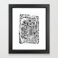 What Hides A Caress Framed Art Print