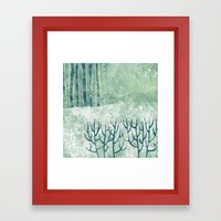 Cold Hedgerow Framed Art Print