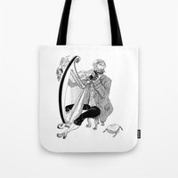 Ye Olde Harp Player Tote Bag