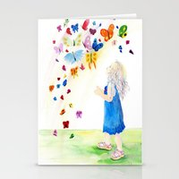 Maggie's Butterflies Stationery Cards