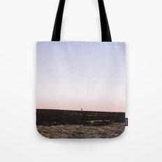 Lone tree on moorland at twilight. Derbyshire, UK. Tote Bag