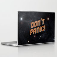 Laptop & iPad Skin featuring Don't Panic by Sarajea