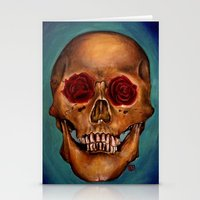 Memento Mori Skull Stationery Cards