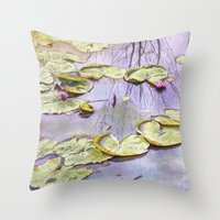 Reflection, watercolor Throw Pillow