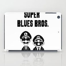 Super Blues Bros. (Black and White) iPad Case