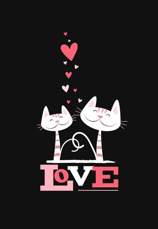 2 Cats in Love Art Print