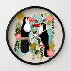 Toucans by Andrea Lauren  Wall Clock