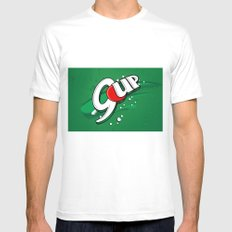 9up Mens Fitted Tee SMALL White