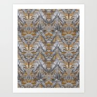Wood Quilt 2 Art Print