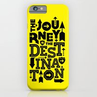 iPhone & iPod Case featuring Yellow Journey Quote by Inspireuart