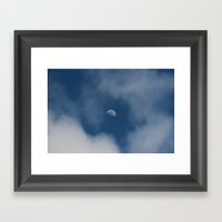 Moon & Clouds Framed Art Print