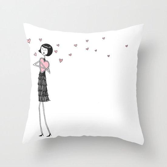 Eloise in love Throw Pillow