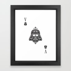 Darth Vader Card Framed Art Print
