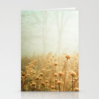 flowers Stationery Cards featuring Daybreak in the Meadow by Olivia Joy StClaire
