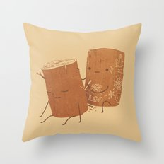 Loggy Modification Throw Pillow