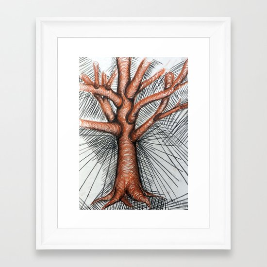 Tree Study Framed Art Print