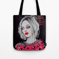 Girls talk (so much shit) Brody D Tote Bag
