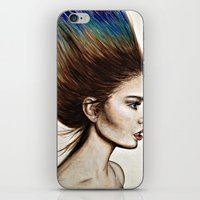 Ombre Hair (Mirror) iPhone & iPod Skin