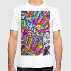 A Colorful Vision  SMALL Mens Fitted Tee White