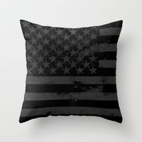 American Brain Flag Throw Pillow