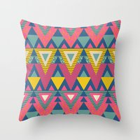 Geometric Chic Again And… Throw Pillow