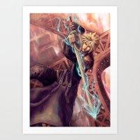 FFVII Advent Children Cl… Art Print