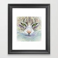 Green-eyes Cat 875 Framed Art Print