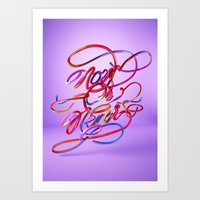 Now Or Never // Typograp… Art Print