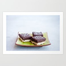Chocolate Dulce de Leche Bars Art Print