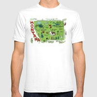 MONTANA Mens Fitted Tee White SMALL