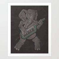 Trunk Rock Art Print