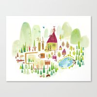 House in the Forest Canvas Print
