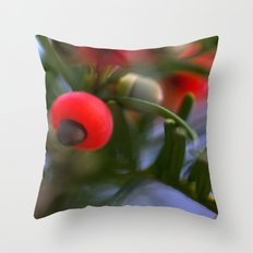 Berry blur Throw Pillow