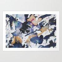 #1 Blue Art Print