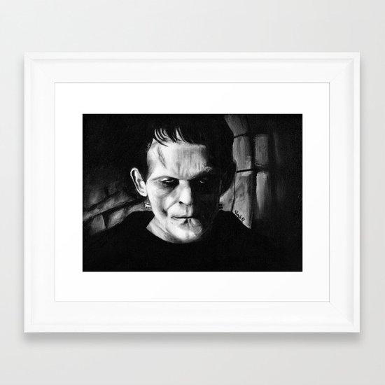 THE MONSTER of FRANKENSTEIN - Boris Karloff Framed Art Print